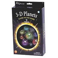 3-D Planets (9 planets) - Glow in the Dark by University Games