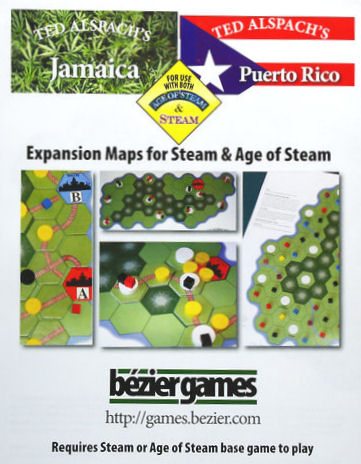 Age of Steam Expansion - Jamaica / Puerto Rico by Bezier Games