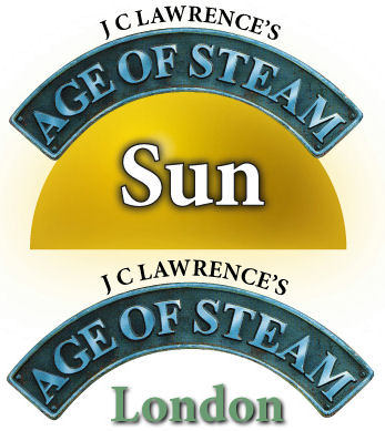 Age of Steam Expansion - Sun / London by Bezier Games