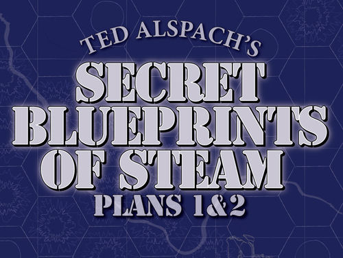Age of Steam Expansion - Secret Blueprints Plans 1 & 2 by Bezier Games