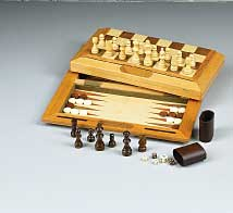 Chess, Checkers, & Backgammon Combo Wood Set by Fame (U.S.A.) Products, Inc.