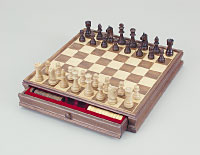 Chess and Checkers Set in Wood Box with Drawer by Fame (U.S.A.) Products, Inc.