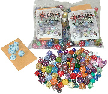 Pound of Dice (assorted) by Chessex Manufacturing