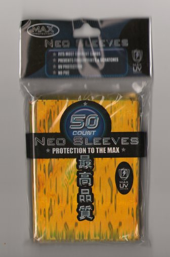 Card Sleeves - Large - Neo Wave - Gold (50) by Max Protection
