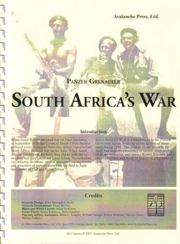 Panzer Grenadier South Africa's War by Avalanche Press, Ltd.