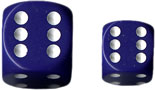 Dice - Opaque: 12mm D6 Purple with White (Set of 36) by Chessex Manufacturing