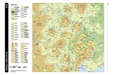 Atlas Harnica Map E8 by Columbia Games