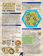 Settlers of Catan: Scenarios - Oil Springs Expansion by Mayfair Games