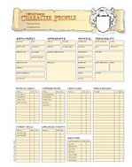 HarnMaster Character Sheets by Columbia Games
