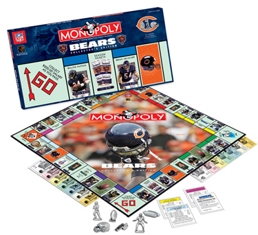 Chicago Bears Collector's Edition Monopoly Board Game by USAopoly