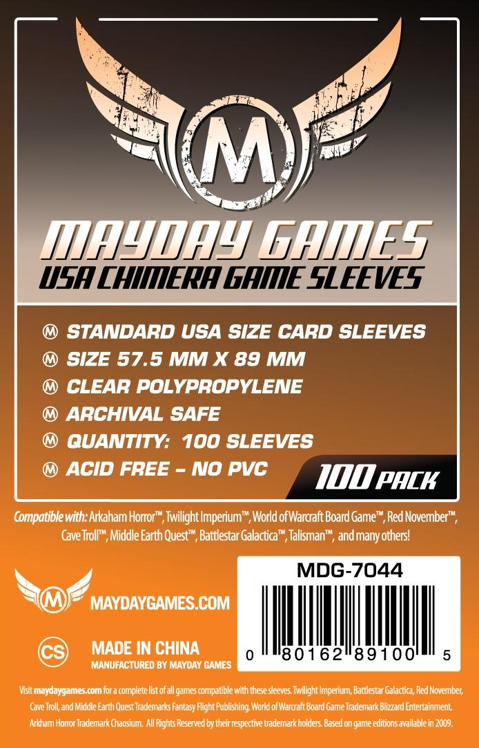 USA Chimera Game Sleeves (100) 57.5 X 89 MM by Mayday Games