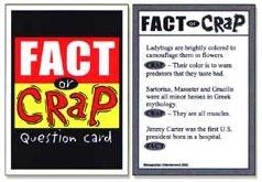 fact or crap board game