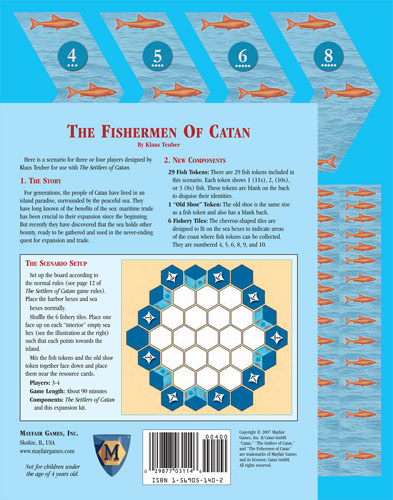 Settlers Of Catan Board Game : The Fishermen Of Catan Expansion by Mayfair Games