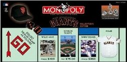 San Francisco Giants Baseball Collector's Edition Monopoly Board Game by USAopoly / Hasbro