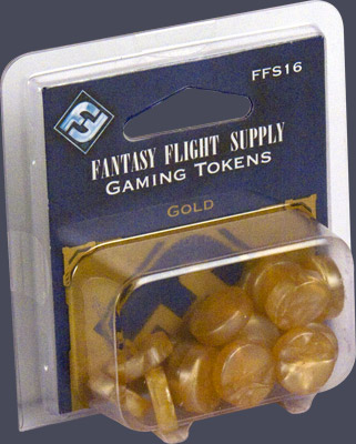 Gaming Tokens: Gold by Fantasy Flight Games