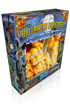 Ticket to Ride Halloween Freighter Train & Station Set by Days of Wonder
