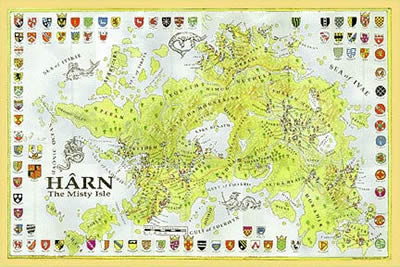Harn Heraldry Map by Columbia Games