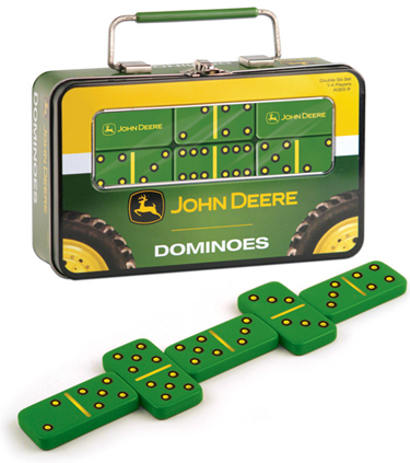 John Deere Dominoes in Tin by USAOpoly