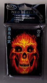Card Sleeves: Flaming Altar - large (50) by Max Protection