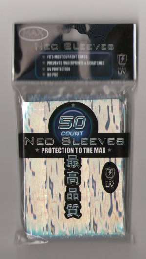 Card Sleeves - Large - Neo Wave - Silver (50) by Max Protection
