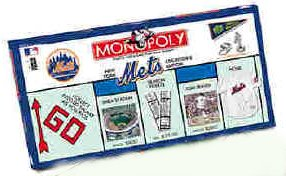 New York Mets Baseball Collector's Edition Monopoly Board Game (2001 version) by USAopoly