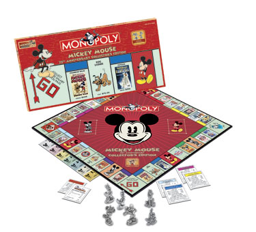 Mickey Mouse 75th Anniversary Monopoly by USAOpoly