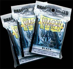 Card Sleeves - 50 red mini card sleeves for non-standard card games by Dragon Shield
