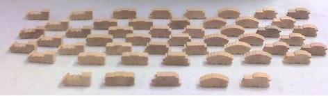 Natural Wooden Train Token Set (25) by Mayday Games