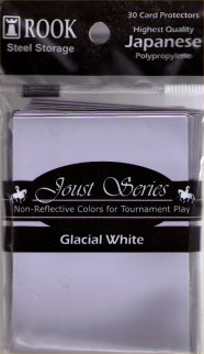 Card Protector Joust Sleeves (30 Glacial White) by Rook Steel Storage