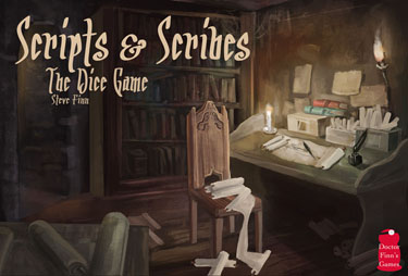 Scripts & Scribes: The Dice Game by Dr. Finn's Games LLC