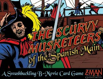 Scurvy Musketeers B-Movie Card Game by Z-Man Games, Inc.