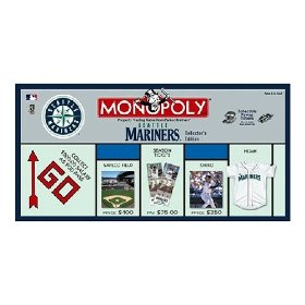 Seattle Mariners Collector's Edition Monopoly Board Game by USAopoly