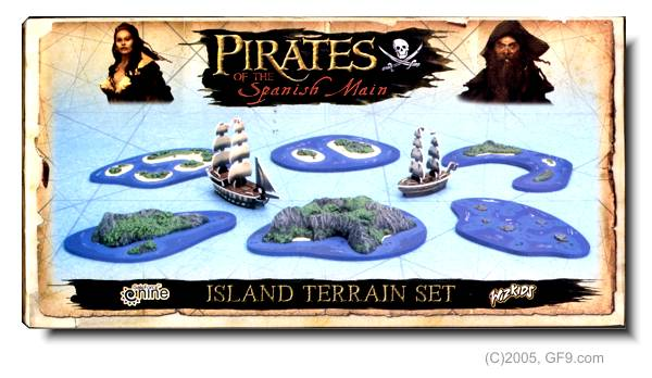 Pirates of the Spanish Main Island Set 1 by Gale Force Nine LLC / Wizkids