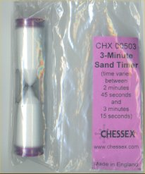 Sand Timer - Three Minutes by Chessex Manufacturing