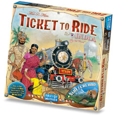Ticket To Ride Map Collection Volume 2 : India & Switzerland by Days of Wonder, Inc.