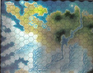 Warangel Accessory - Hexed Map of 1st Generation - Barbarians {Barbari} (Norway) by Angelo Porazzi Games