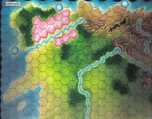 Warangel Accessory - Hexed Map of 1st Generation - Centaurs {Centauri} (France) by Angelo Porazzi Games