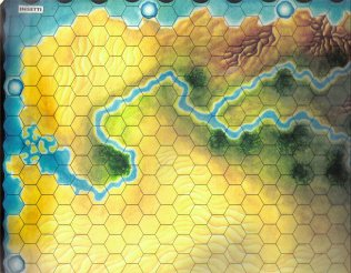 Warangel Accessory - Hexed Map of 1st Generation - Insects {Insetti} (Sudan) by Angelo Porazzi Games
