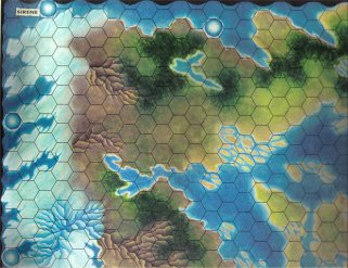 Warangel Accessory - Hexed Map of 1st Generation - Sirens {Sirene} (Denmark) by Angelo Porazzi Games