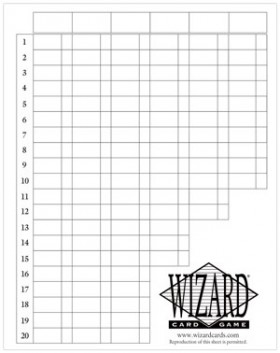 Wizard Card Game Score Sheet http://www.fairplaygames.com/gamedisplay.asp?gameid=7269