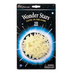 Wonder Stars (50 Glow in the dark stars) by University Games