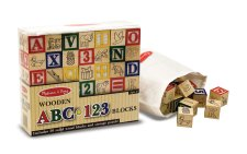 Wooden ABC/123 Blocks Set by Melissa and Doug