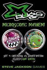 X-Bugs: Set 4 (Black/Light Green) - Chitinians vs. Sovietoptera by Steve Jackson Games