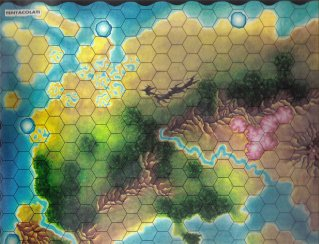 Warangel Accessory - Hexed Map of 1st Generation - Tentaculates {Tentaculates} (Italy) by Angelo Porazzi Games